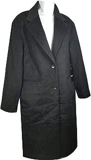 DKNY Women's Wool Peacoat Winter Coat Parka Black,XS