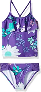 Kanu Surf Girls Paige Floral Flounce Tankini Beach Sport 2-Piece Swimsuit Two Piece Swimsuit