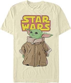 STAR WARS Men's T-Shirt, Cream, Medium