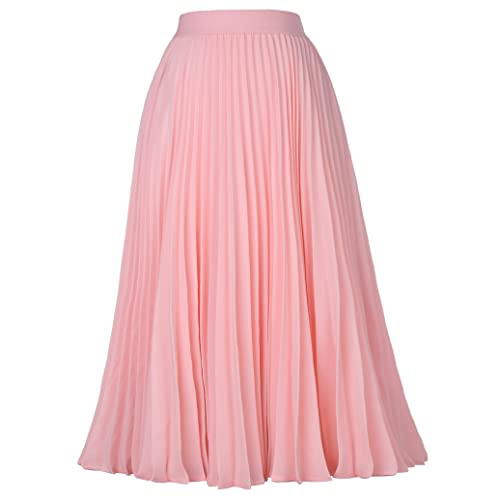 8713e8ea49 Kate Kasin Women's High Waist Pleated A-Line Swing Skirt KK659