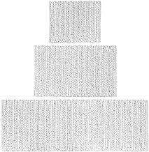 mDesign 100% Cotton Luxury Rectangular Spa Mat Rugs, Plush Water Absorbent - for Bathroom Vanity, Bathtub/Shower, Machine ...
