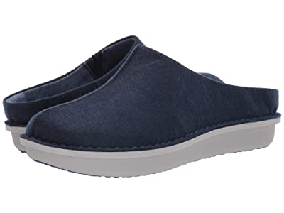 Clarks Step Flow Clog (Navy Felt) Men