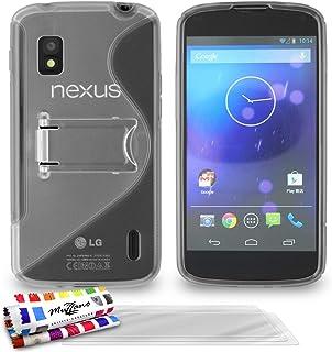 ' Muzzano 保护套适用于 Lg Nexus 4 灰色3D屏保 Grey + 3 Screen Protectors
