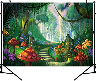 OUYIDA Beautiful Forest Path 7X5FT Pictorial Cloth Photography Background Computer-Printed Vinyl Backdrop TP113