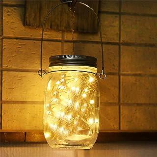 Lampada Solare Luce Solare Esterna Mason Jar String Lights 30 LED Impermeabile Lampadina Atmosfera per Cene, Giardino, Fes...