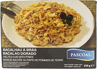 Coelho Dias Pascoal Bacalhau A Bras Salted Cod (Bacalhau) with Fries, 250 g - Frozen