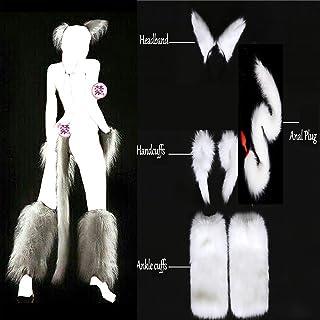 818ba878e48 BJYC T-Shirt Cat Tail Būtt Toy Plug Sexxxvy White Sexxxvyy Faux Fox Tail  Hand
