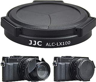 JJC Auto Open and Close Lens Cap Protector for Panasonic Lumix LX100 II (DC-LX100M2) DMC-LX100 Leica D-LUX (Typ 109), Replaces Panasonic DMW-LFAC1K Automatic Lens Cap, Fits Filter Thickness Below 8mm