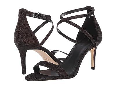 MICHAEL Michael Kors Ava Mid Sandal (Black/Bronze) Women