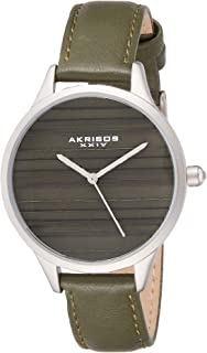 Akribos XXIV Women's Quartz Striated Classic Designer Watch