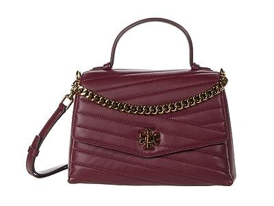 Tory Burch Kira Chevron Top-Handle Satchel (Imperial Garnet) Handbags