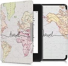 kwmobile Case for Amazon Kindle Paperwhite (10. Gen - 2018) - Book Style PU Leather Protective e-Reader Cover Folio Case - Black/Multicolor
