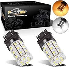 Partsam 2X 3157 3357 3457 Switchback Amber White Front Turn Signal LED Light 60 LED Bulb High Bright Turn Signal Light