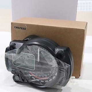 Elviray 1000 RPM Máxima luz Digital de la Motocicleta LCD Indicador Digital Velocímetro Tacómetro Odómetro Ajustable