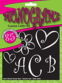 CHROMA 5380 Monogramz White Initial Decal Kit