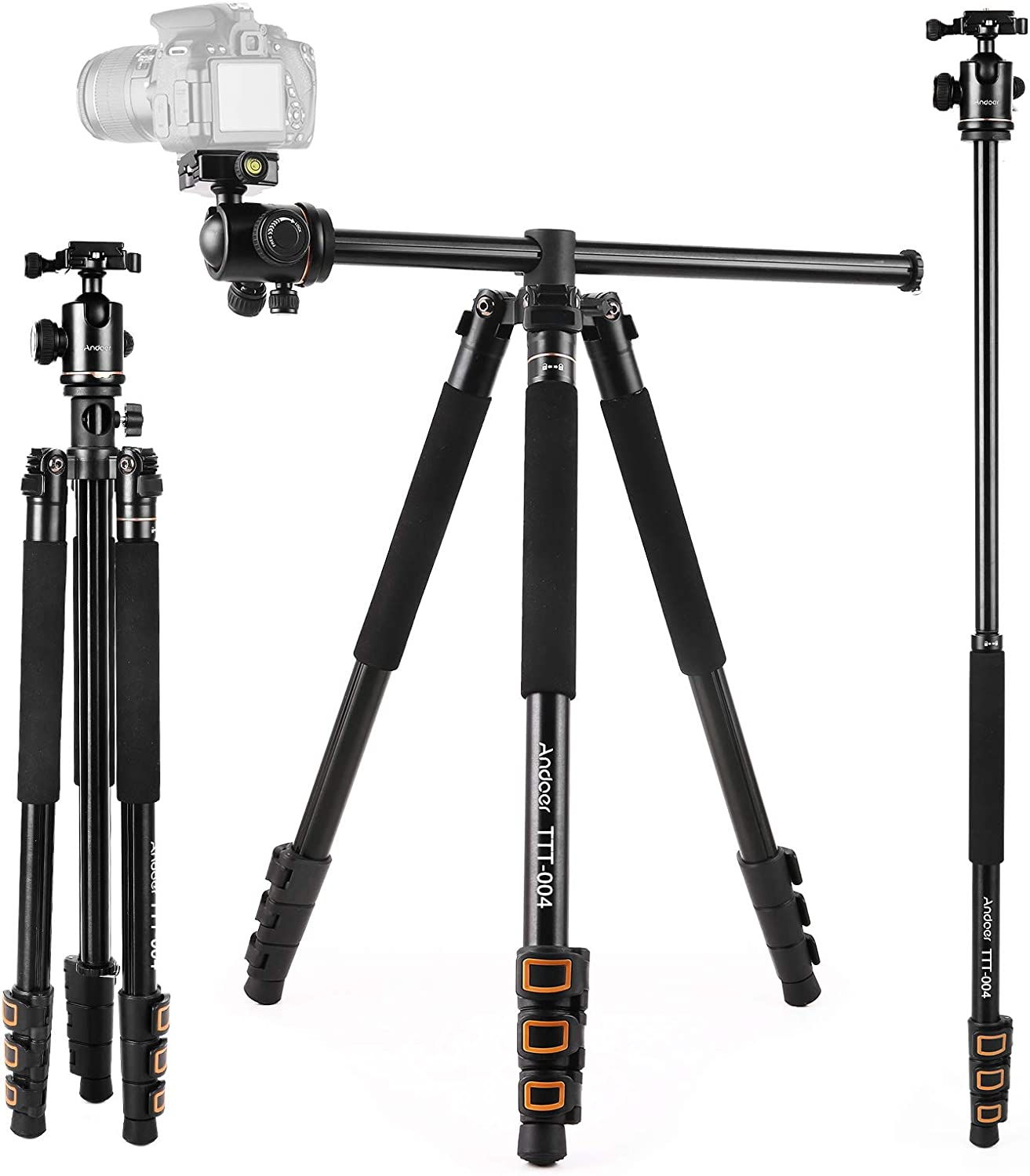 Andoer Camera Tripod 78.7 inch Center 2-in-1 Column Free Shipping New Some reservation with