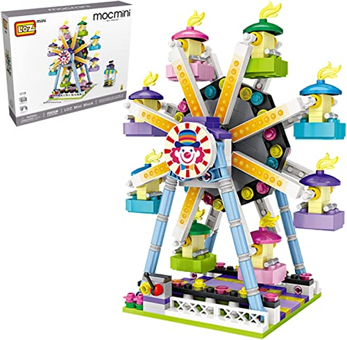 wholesale Playground Series Building Set, Pirate Ship, Ferris Wheel, Carousel, Mini DIY Building Blocks Model MOC high quality Construction Toy. (Not Compatible with Small Particle Bricks) (Ferris new arrival Wheel) outlet online sale