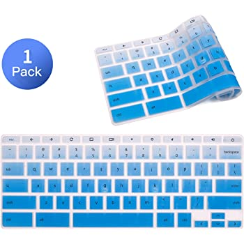 "Keyboard Skin Cover Compatible with 11.6"" HP Chromebook x360 /HP Chromebook 11 G2, G3, G4, G5, G6 EE/HP 14"" Touchscreen Chromebook 14-ca 14-ak 14-db/HP Chromebook 14 G2 G3 G4 G5(Gradual Blue)"