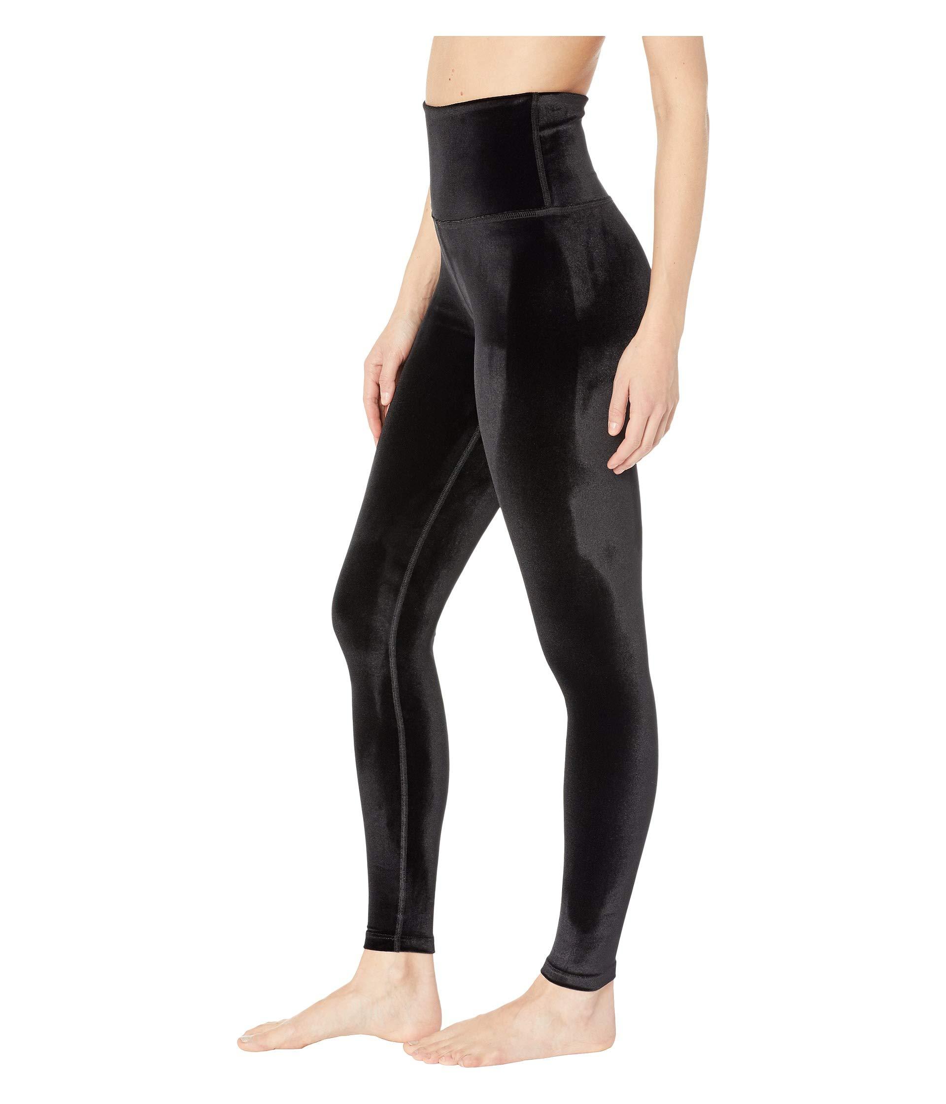 Velvet Leggings Yoga waisted Black Beyond High Midi qSHAS5x