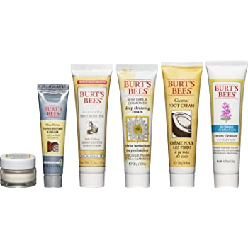 Burt's Bees Fabulous Minis Travel Set, 6 Travel Size Products - Cream Cleanser, Day Lotion, Deep Cleansing Cream, Body Lotion, Foot Cream and Hand Repair Cream