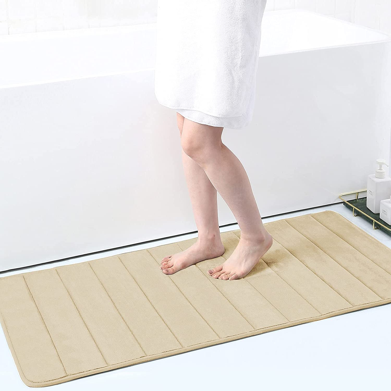 Buganda Memory Foam Surprise price New color Soft Bath Mats Absorbent Non Bathroom Slip -