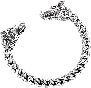 Windalf Vikings, bracciale da uomo forte, diametro 6,5 cm, gioiello vichingo mediavale, gioiello dell'amicizia, realizzato...