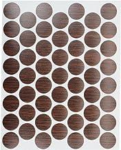 "53 Pack Fastcap FC.WP.916.IW 9/16"" Zelfklevende meubelkast Schroef Cap Covers Imperial Walnoot"