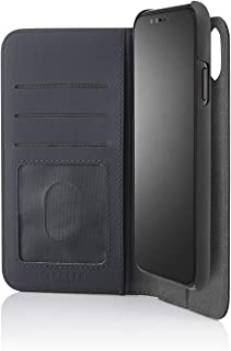 PIPETTO iPhone XR 2-in-1 Leather Magnetic Folio Case - Navy