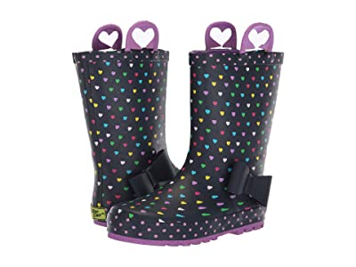 Western Chief Kids Limited Edition Printed Rain Boots (Toddler/Little Kid) (Heart Parade Navy) Girls Shoes
