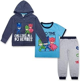 PJ Masks Toddler Boys Set - Catboy, Gekko & Owlette, Owlette Hoodie, T-Shirt & Sweatpants Set