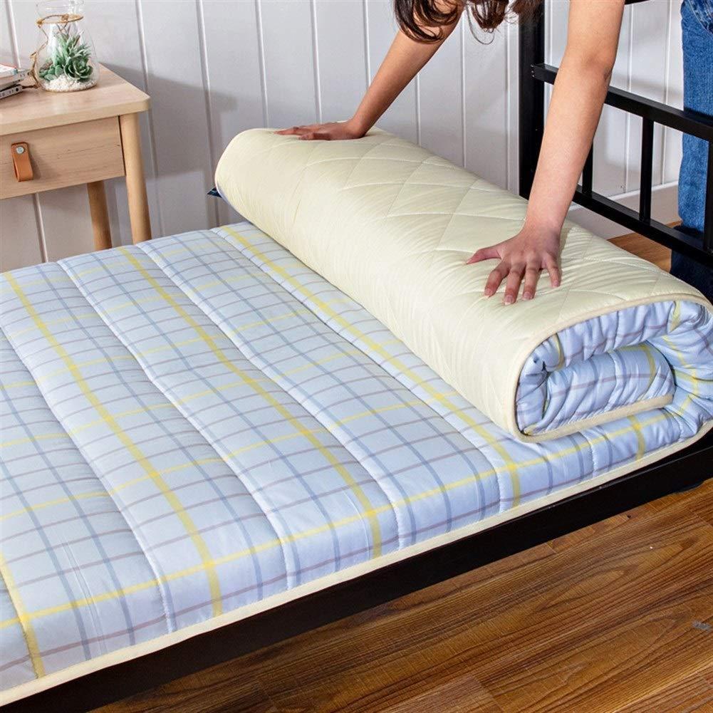 Allyine Espesar de la Futon colchón, futón de Espuma de Memoria futón Plegable algodón Acolchado Antideslizante de la Alfombra del Piso, Dormitorio Estudiantil, Colores Múltiples,G,Twin:90x200cm: Amazon.es: Hogar