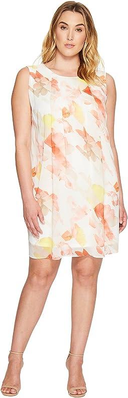 Plus Size Pleat Front A-Line Dress