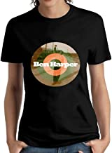 JAKERICHARDSON Women's Ben Harper Logo Fashion Cool T-Shirt Short Sleeve