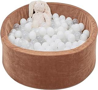 Razee Foam Pit Balls Pool Playpen for Baby Kids Handmade Kiddie Balls Pool (Coffee)