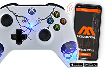 """Best """"Skulls White"""" Smart Rapid Fire Custom Modded Controller for Xbox One S Mods FPS Games and More. Control and simply adjust your mods via your phone! Review"""
