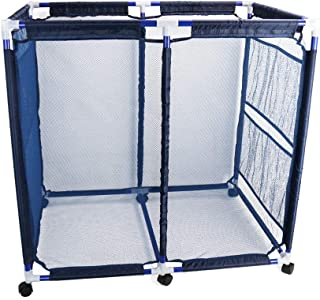 Cosaving Pool Storage Bins Containers Rolling Pool Storage Cart Organizer with Nylon Mesh Basket Large Capacity for Pool A...