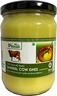 Farm Naturelle -A2 Cow Ghee from Grass Fed Desi Sahiwal Cow's Milk Made from Curd by Vedic Bilona Method-Golden , Grainy &...