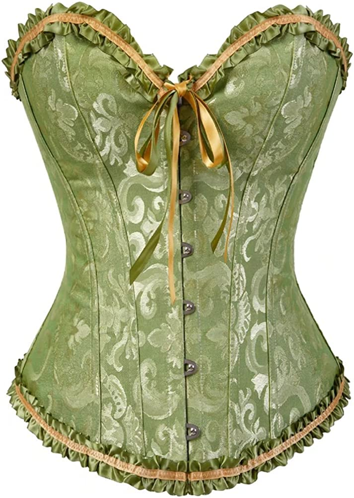 Corsets for Women Costume Lingerie Satin Floral Lace Bustier Manufacturer direct delivery Top Houston Mall
