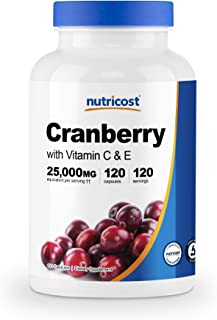 Sponsored Ad - Nutricost Cranberry Extract (25,000mg) (120 Capsules) with Vitamin C & Vitamin E