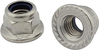 10 Sicherungsmuttern mit Flansch Sperrverzahnung A4 DIN 6926 Edelstahl V4A M8