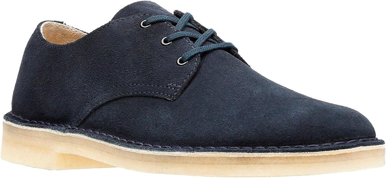 Clarks Men Navy Suede 'Crosby' Desert shoes 7.5