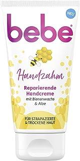 bebe Handzahm Reparierende Handcreme mit Bienenwachs & Aloe, reichhaltige Intensivcreme für strapazierte und trockene Haut 1 x 75 ml