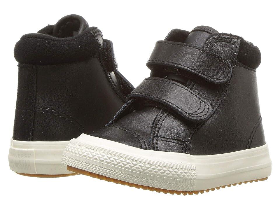 Converse Kids Chuck Taylor(r) All Star(r) 2V Pc Boot Hi (Infant/Toddler) (Black/Burnt Caramel/Black) Boy