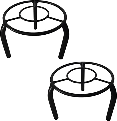 D&V ENGINEERING - Creative in innovation Metal Pot Stand, Black, 19 cm, 2 Pieces