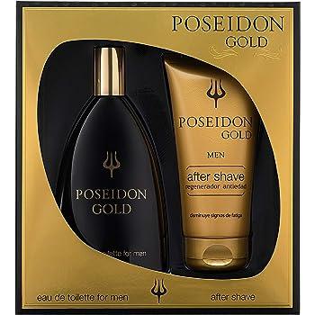 Instituto Español Poseidon Gold Eau de Toilette para Hombre - Set Colonia 150 ML y After Shave: Amazon.es: Belleza