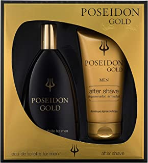 Instituto Español Poseidon Gold Eau de Toilette para Hombre - Set Colonia 150 ML y After Shave