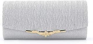 ZIUMUDY Womens Glitter Evening Clutches Wedding Bridal Clutch Purse Shoulder Chain Bag Wallet