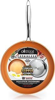 Gotham Steel Premium Triple Ply Reinforced Stainless Steel Frying Pan, 8.5