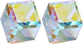 comprar comparacion CHANGEABLE Cubo de Agua Cristal Pendientes de mujer de plata de ley