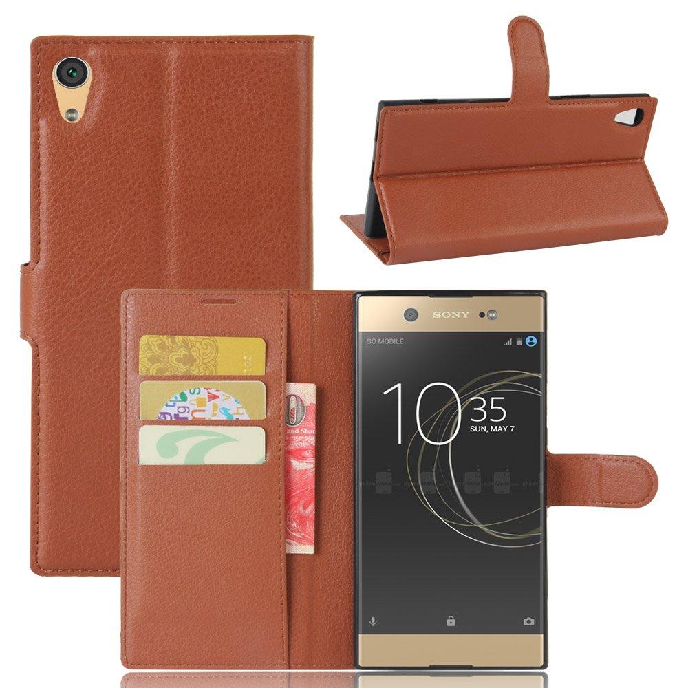 Sony Xperia XA1 Ultra Cover - MYLB PU funda case cubierta cover para Sony Xperia XA1 Ultra smartphone (marrón): Amazon.es: Electrónica